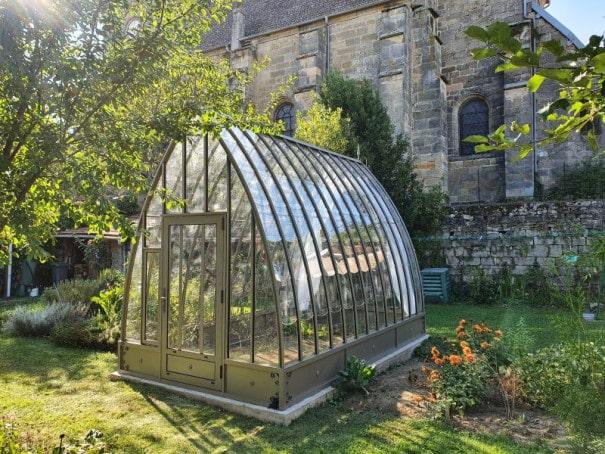 Serre de jardin à l'ancienne style fer forgé avec soubassement – Structure aluminium - Louise Soubassement (Vue 0)