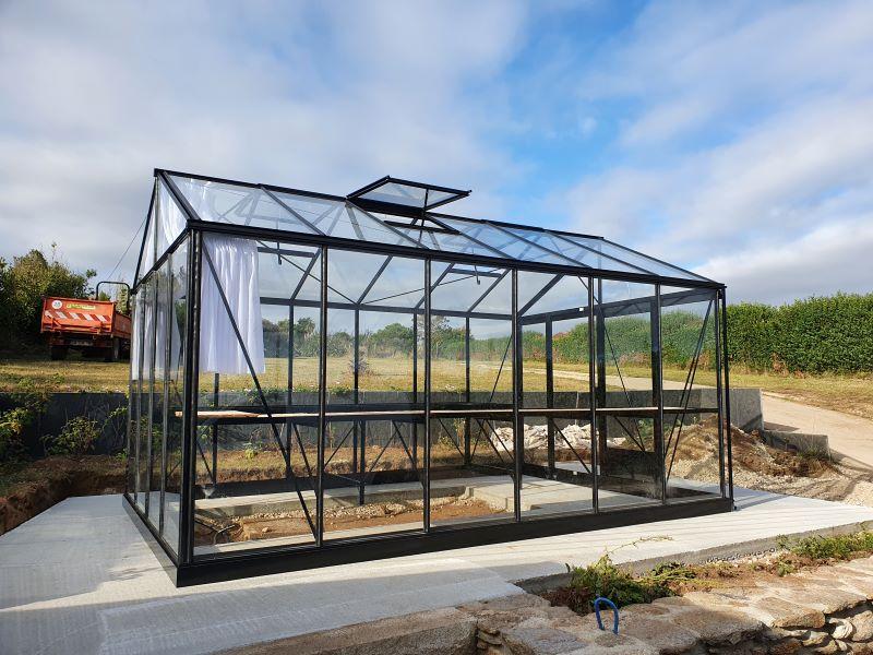 Conception d'une serre victorienne en aluminium - Plougonvelin (29 - Finistère) vue 2